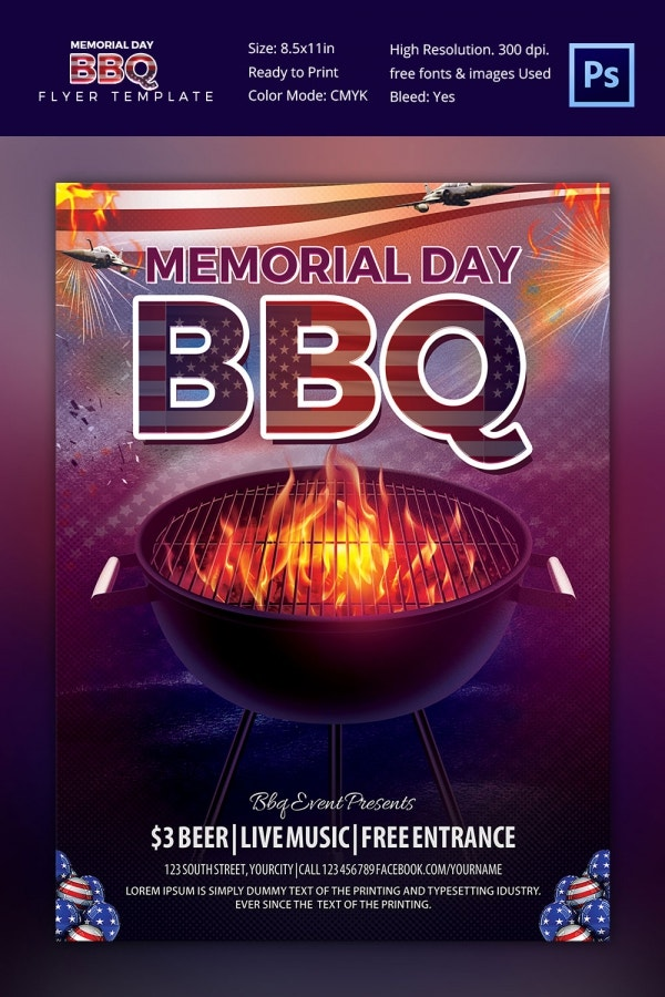 Bbq Flyer Templates  Free Word Pdf Psd Eps Indesign