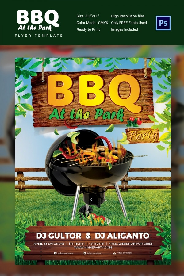 Summer BBQ Flyer Template Design
