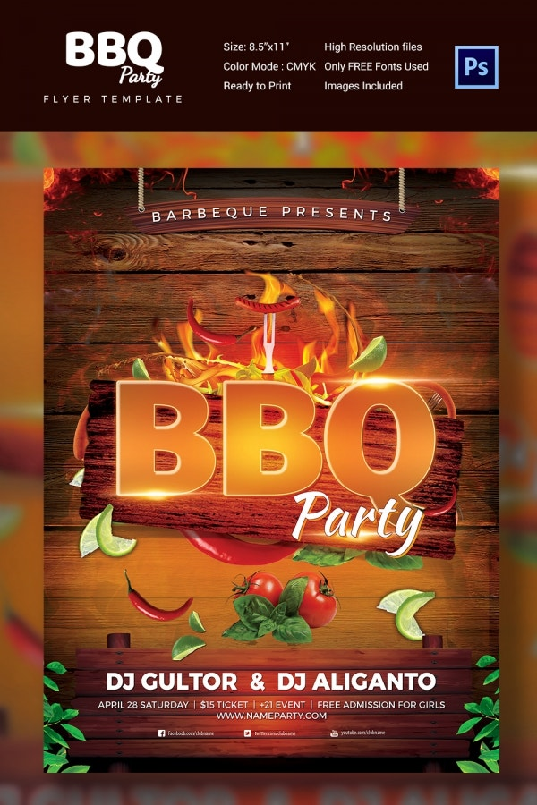 Spicy BBQ Party Flyer Template Download