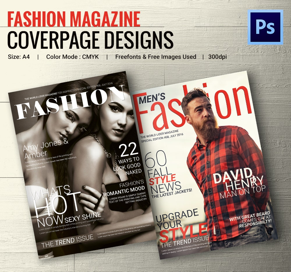 Fashion Magazine Cover PSD Template