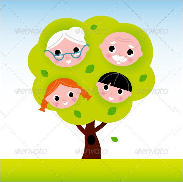 family tree template for kids 17 free word excel pdf format - Free Children Images