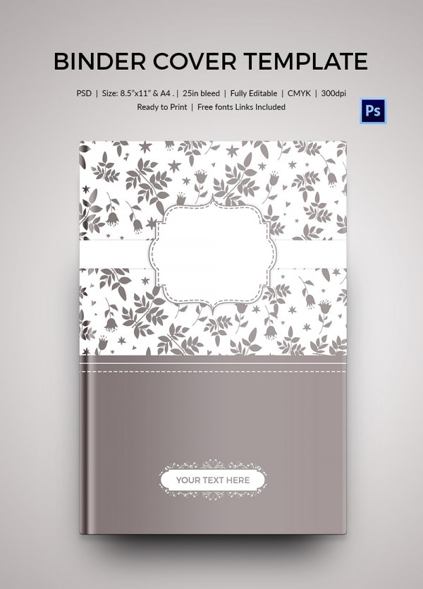 beautiful binder cover template