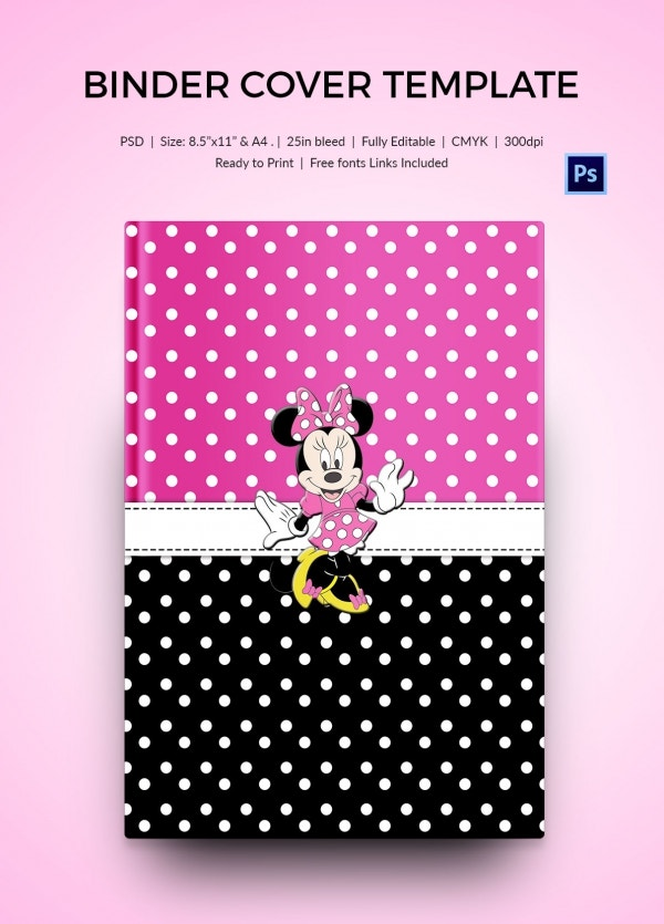 Mickey Mouse Binder Cover Template