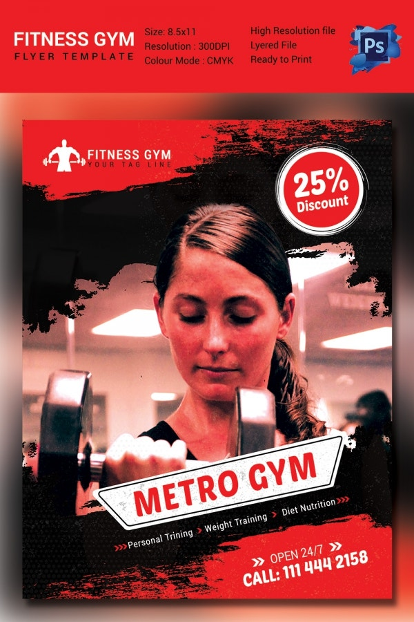 Fully Editable Fitness Flyer Template
