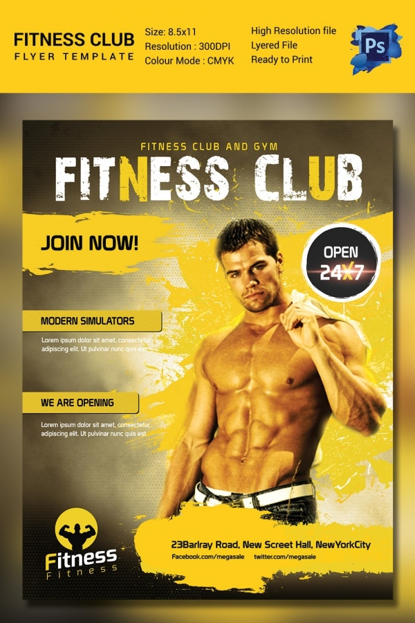 Editable Fitness Flyer