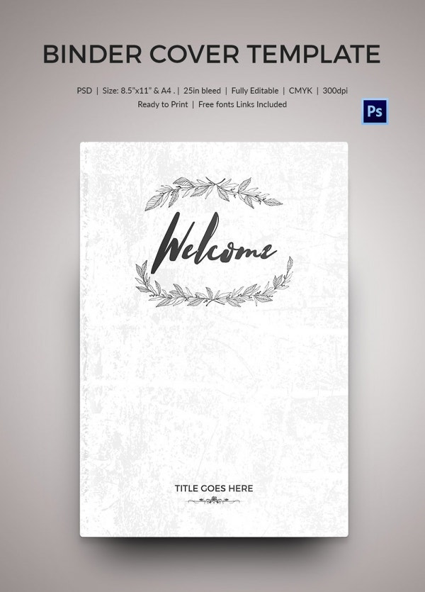 Free Download Welcome Binder Cover