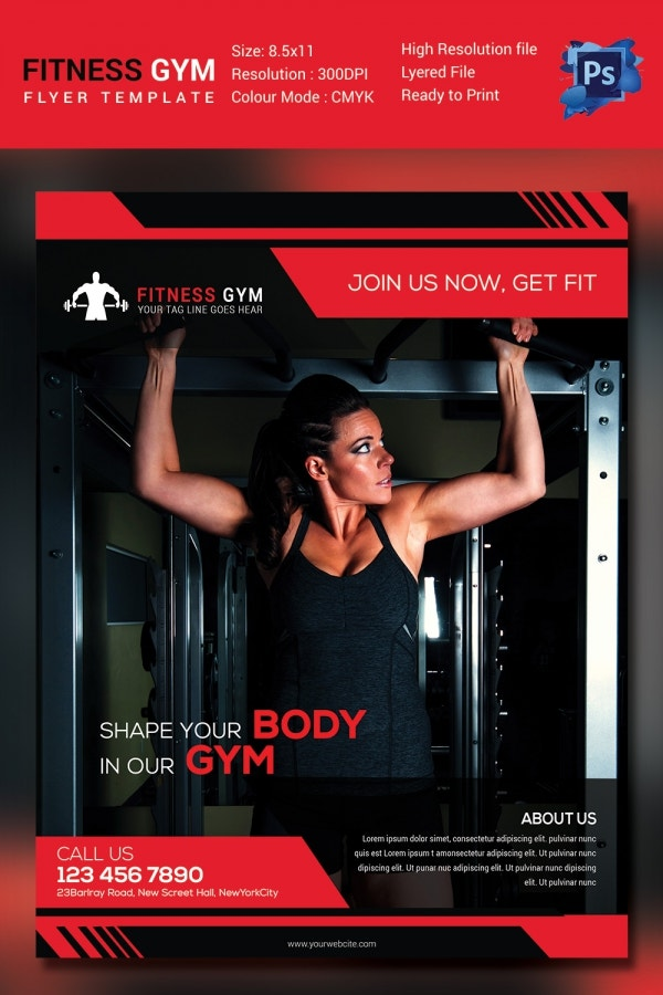 Business Fitness Flyer Design Template
