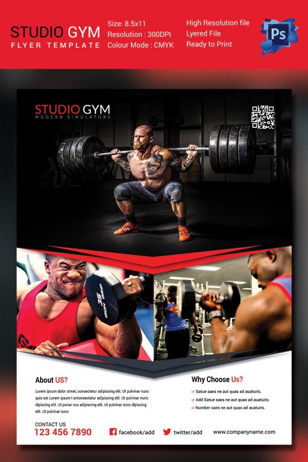 Fitness Class Flyer Template