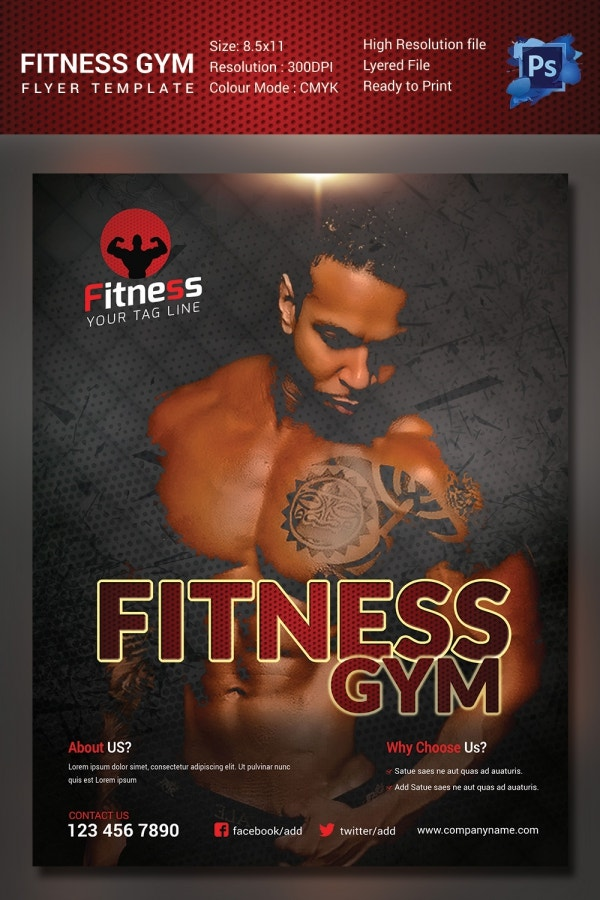 PSD Gym Flyer Template