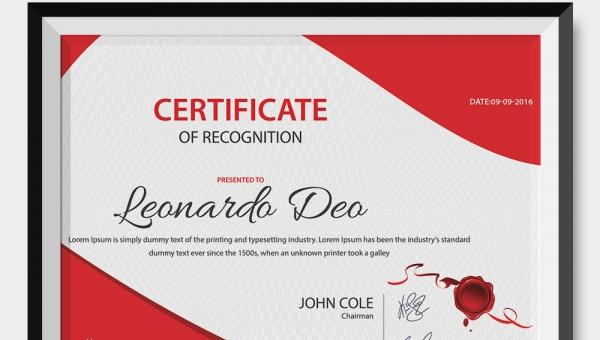 employee certificates template