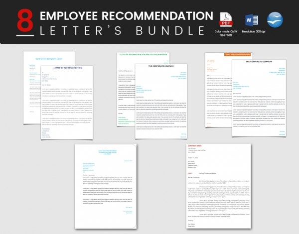 Well Designed Employee Recommendation Letter Bundle