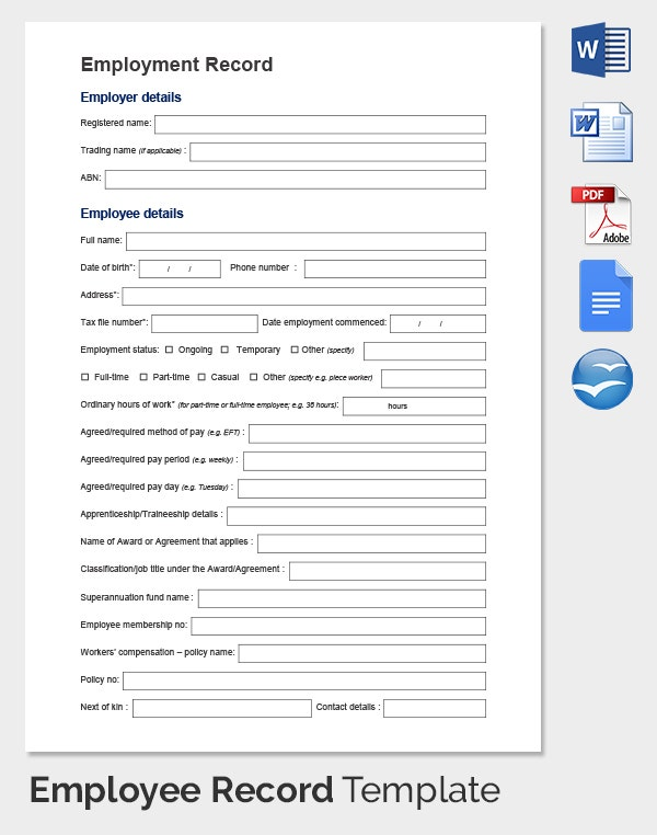Employee Details Form Download Easy To Edit Employee Reimbursement
