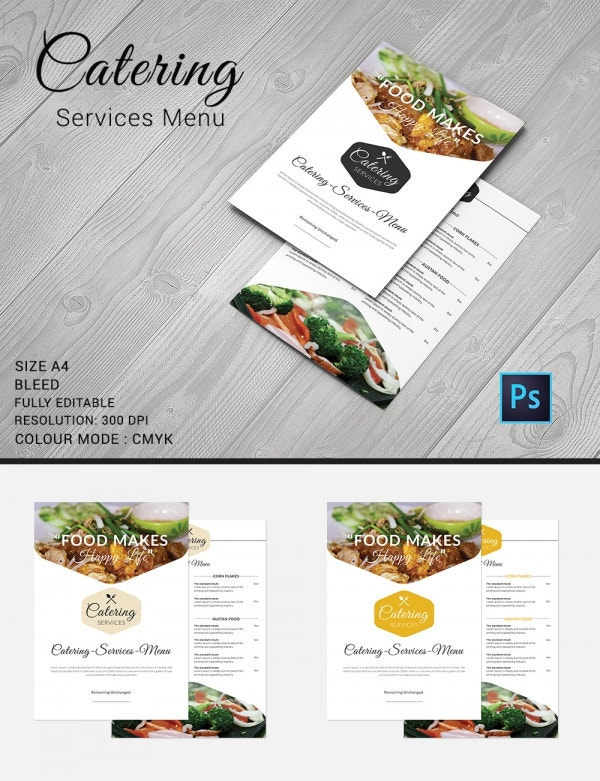Catering Menu Template   Free Psd Eps Documents Download