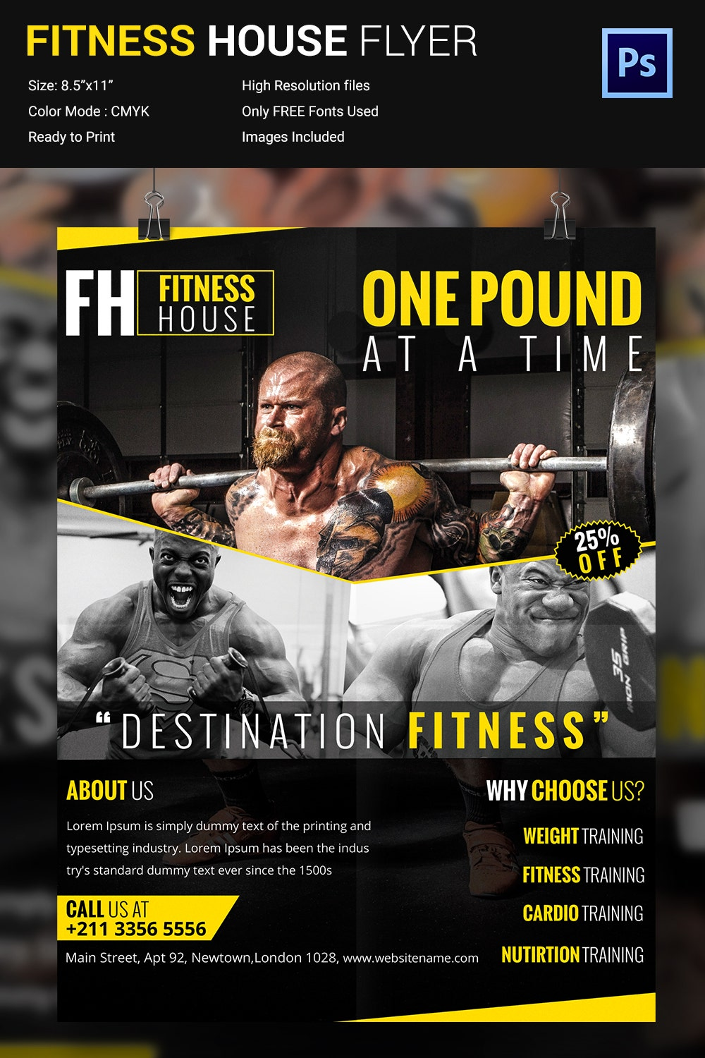 Fitness Flyer Template 32 Free PSD Format Download – Gym Brochure Templates