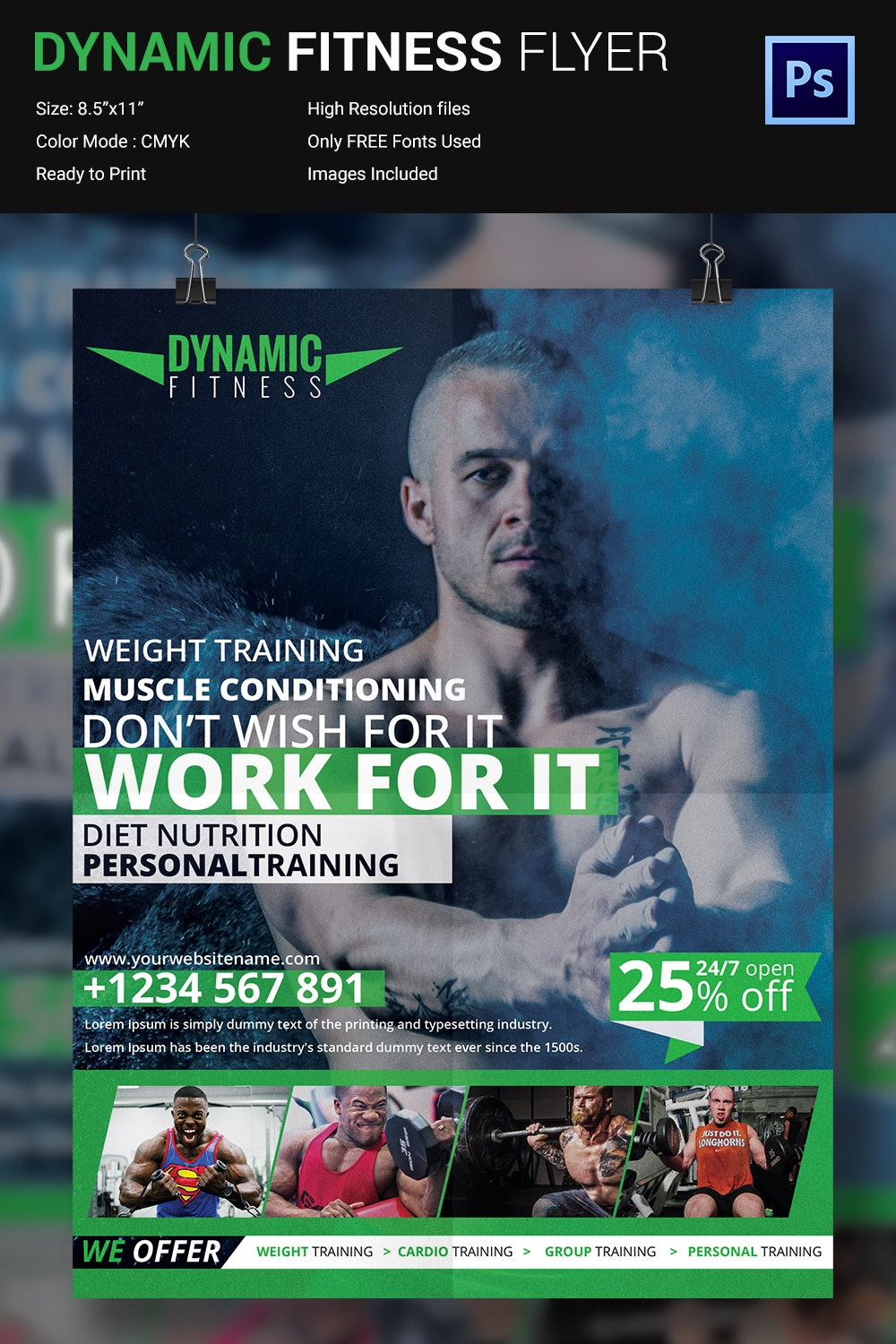 Dynamic Fitness Flyer Design