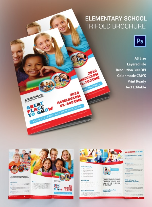 Education brochure template 43 free psd eps indesign for Tri fold school brochure template