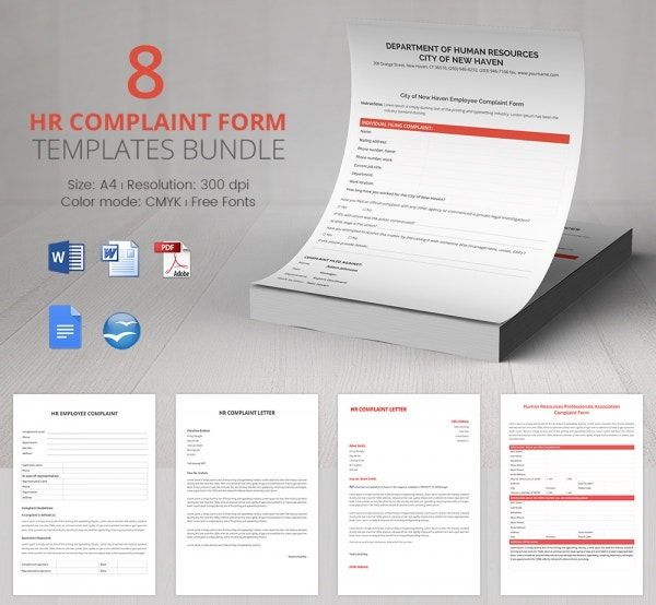 33 HR Complaint Forms Free Sample Example Format – Sample Hr Form