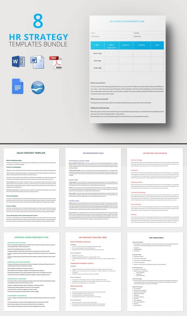 8 bundle of hr strategy templates download