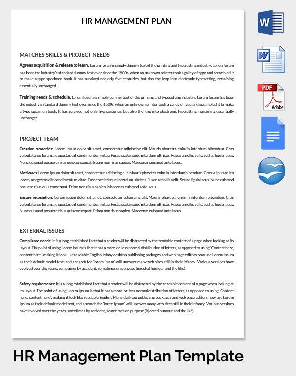 Hr Strategy Template   Word Pdf Documents Download  Free