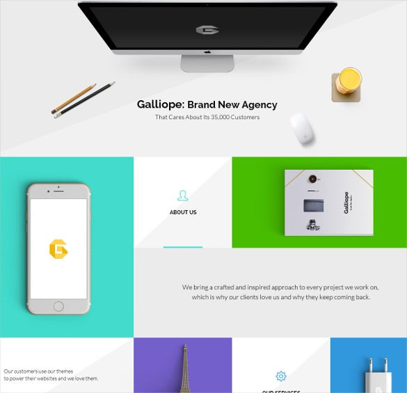 galliope agency portfolio psd template