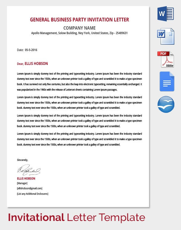 HR Invitation Letter Template - 25+ Free Word, PDF, Documents ...