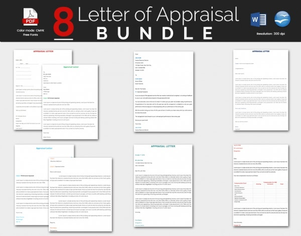 8 Well Appraisal Letter Template Bundle