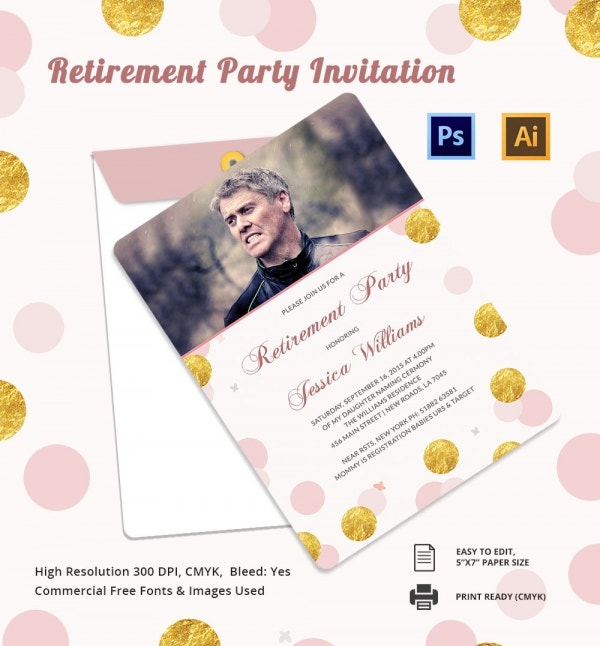 Retirement Party Invitation Template 36 Free PSD Format – Retirement Party Invitation Template Free