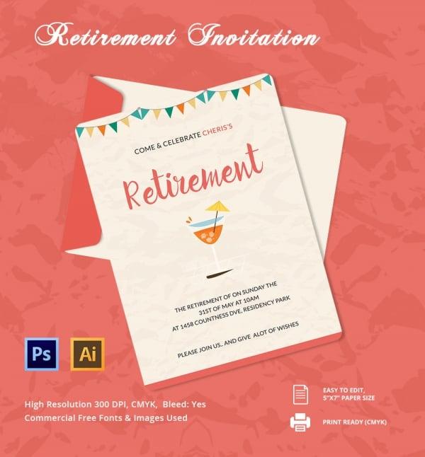 Retirement party flyer templates free trattorialeondoro stopboris Image collections
