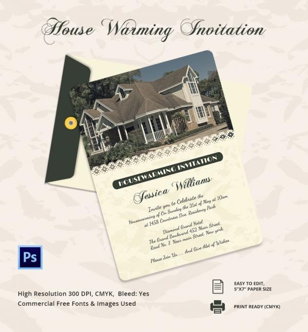 Elegant House Warming Invitation Template