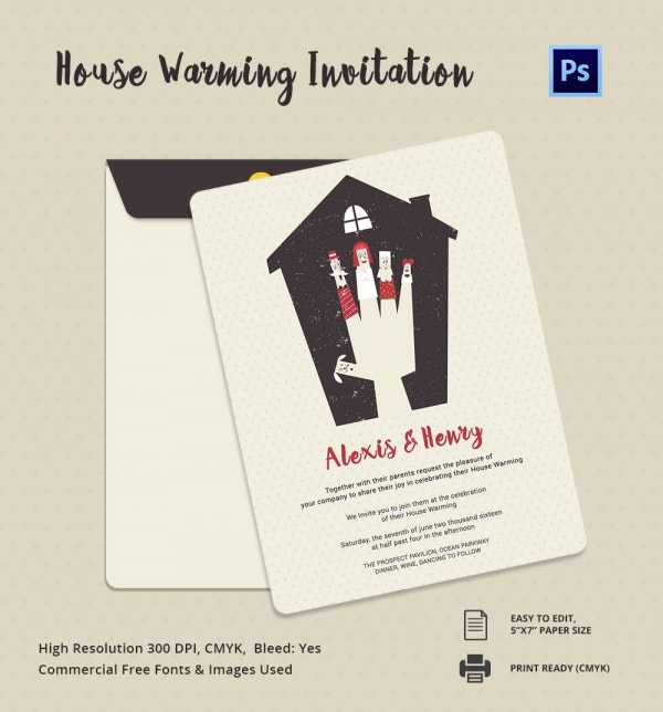 House Warming Invitation Card Template