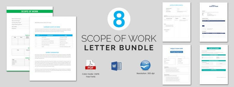 8 Best Scope of Work Templates Bundle