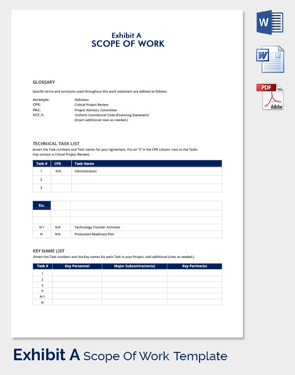 Scope Of Work Template   Free Word Pdf Documents Download
