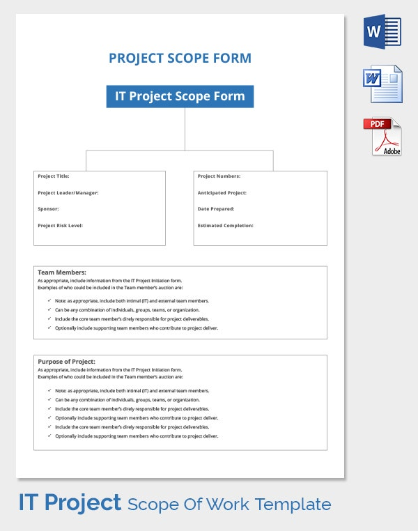Project Work Scope Template