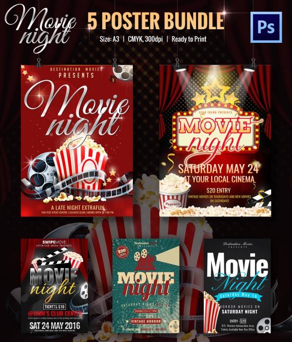 Movie Night Flyer Template 25 Free JPG PSD Format Download – Movie Night Flyer Template
