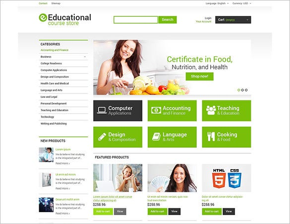 premium educational courses prestashop theme
