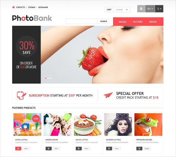stylish clean responsive photography prestashop template