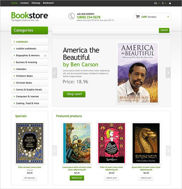 stylish responsive books store prestashop theme