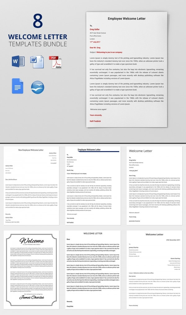 8 HR Welcome Letter Templates Bundle