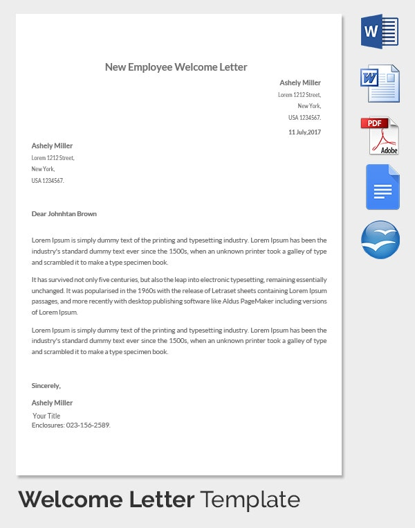 New hire letter template business letters and forms lettersandforms on pinterest altavistaventures Image collections