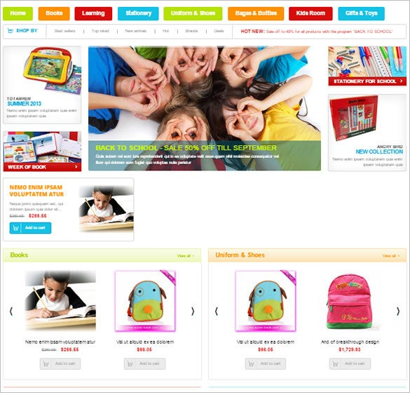 responsive gridview education teaching equipment theme – 79