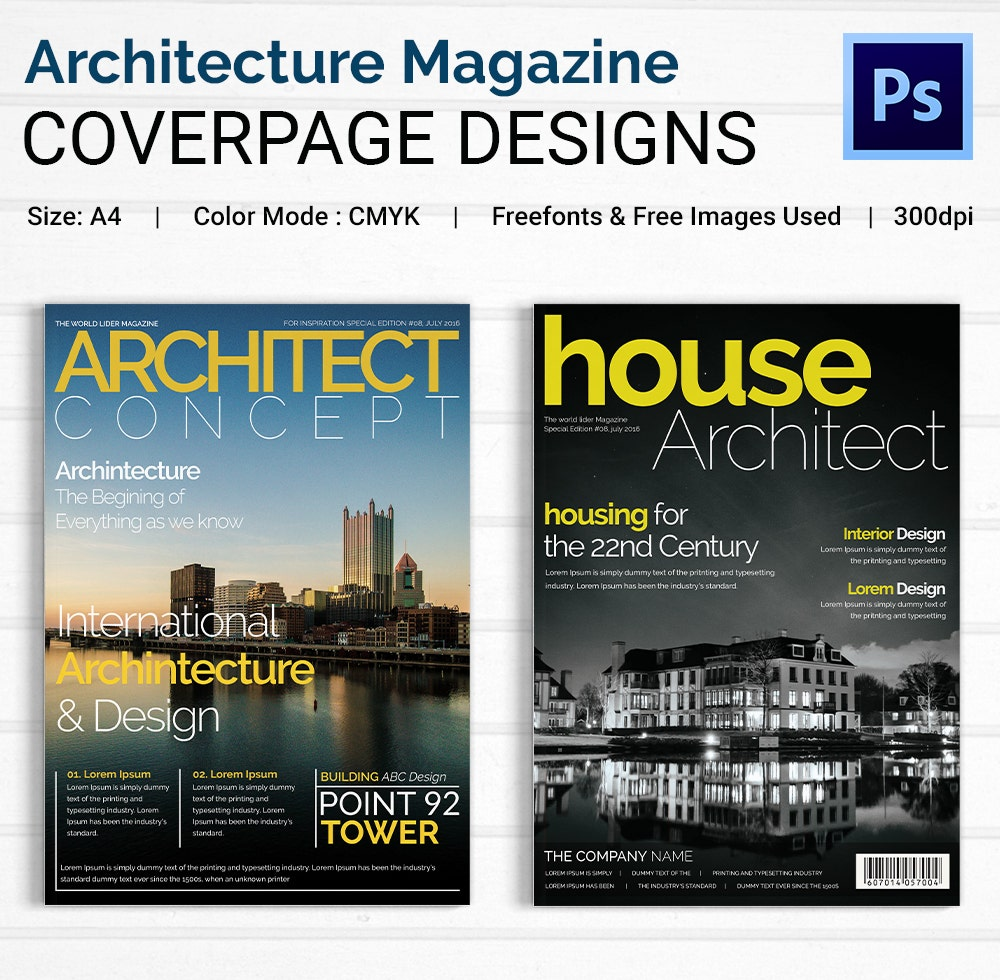 Architecture Magazine Cover Designs