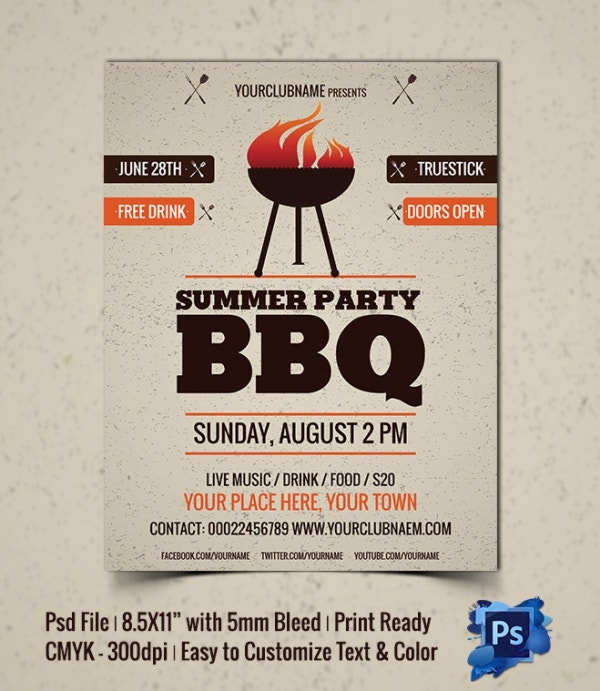 Summer Party BBQ Party Template