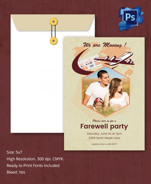 farewell party invitation template1