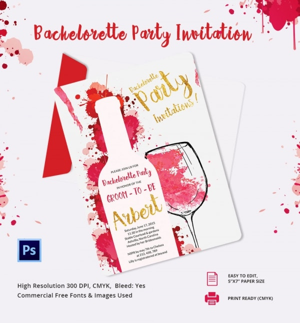 elegant bachelor party invitation template