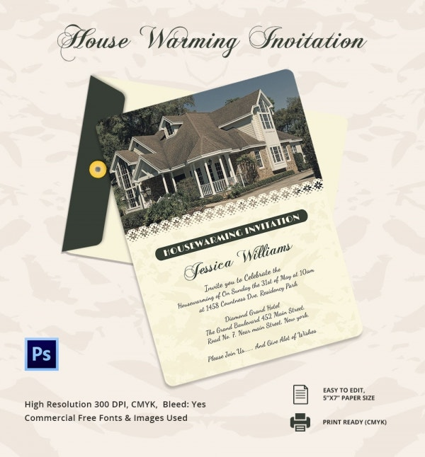 Elegant House Warming Invitation Template