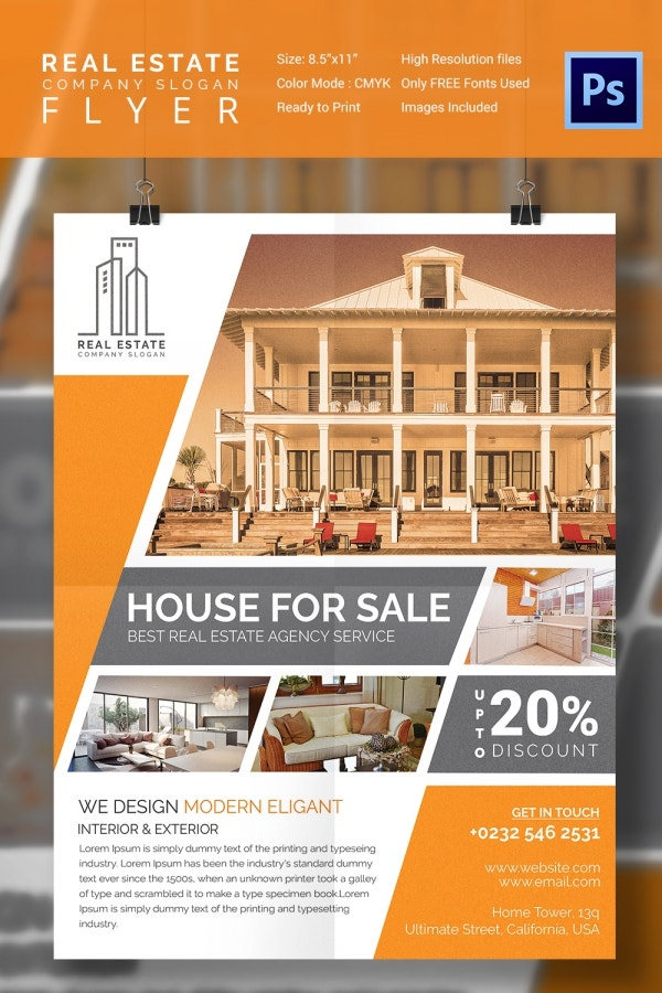 15 stylish house for sale flyer templates designs free premium templates. Black Bedroom Furniture Sets. Home Design Ideas