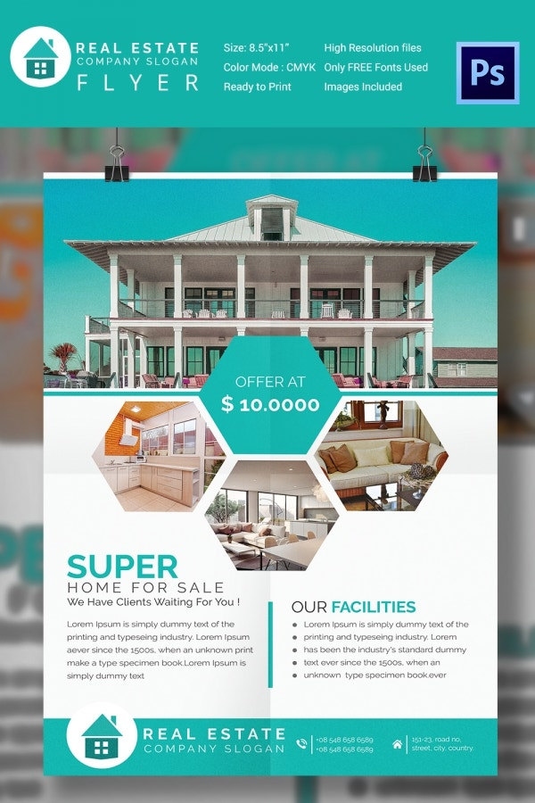 15 stylish house for sale flyer templates designs House design templates