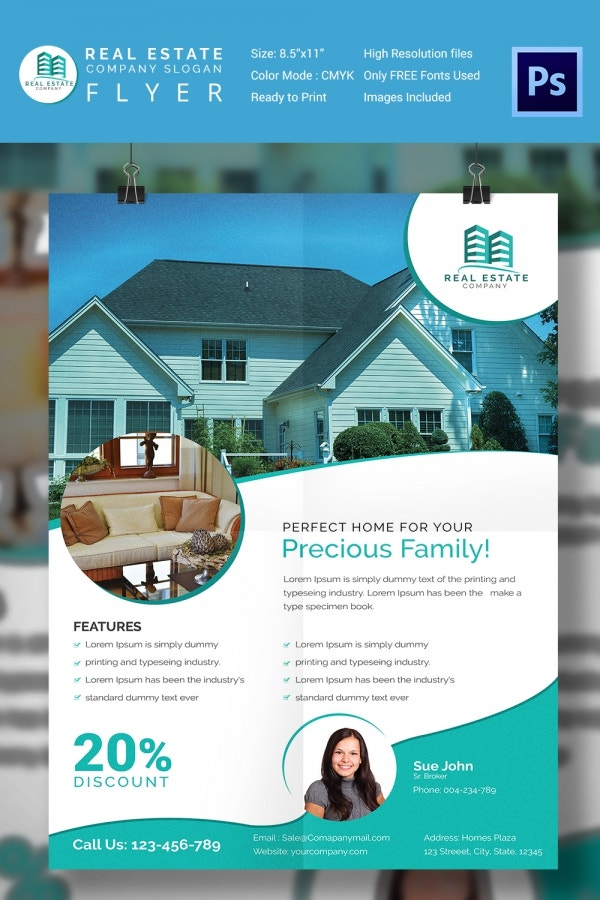 15 Stylish House for Sale Flyer Templates Designs – For Sale Ad Template