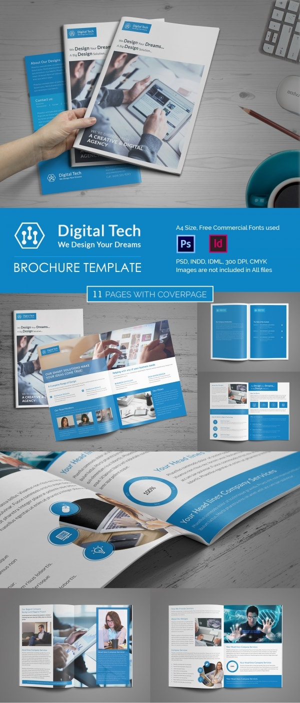 16 fresh digital brochure templates free psd vector for Electronic brochure templates
