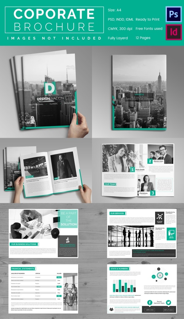 corporate brochures templates - 30 corporate brochure templates psd designs free